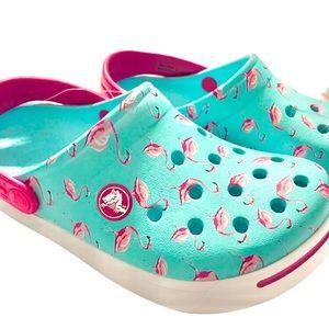 CROCS- Crocband Clog Blue/ Pink Flamingo Kids 4/5